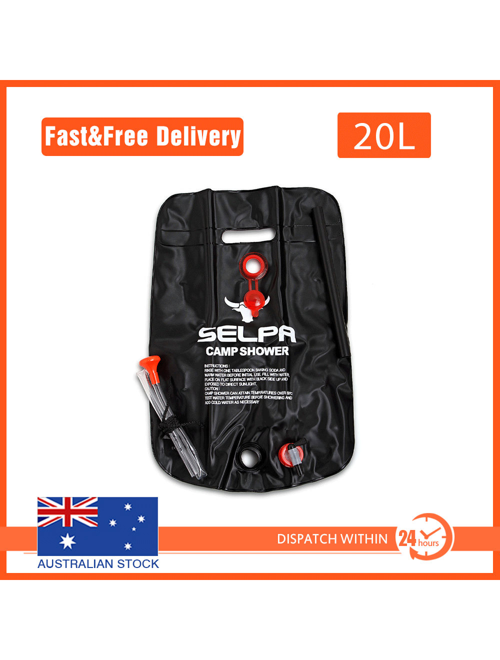 20l Outdoor Camping Solar Heated Water