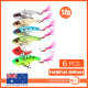 6Pcs 12g Fishing Switchblade Blade VIBE VIB Metal Lures 55mm Bream Bass