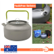 1.2L Outdoor Teapot Camping Hiking Portable Aluminum Kettle Coffee Pot
