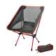 Lightweight Folding Camping Chair Portable Outdoor Fishing Seat Ultra-Light-Red