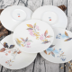 5 Piece Ceramic Handpaint Autumn Floral Dining Set Plates Kitchen Dinnerware Set