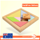 Kids Educational Tangram Shape Wooden Puzzle