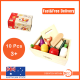 10pcs Pretend Play Cutting Wooden Food Vegetable Fruit BOX kid Educational Toy