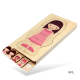 Wooden Body Puzzle Girl 5 Layer Body Puzzle anatomy Kids Puzzle Educational Toy Girl