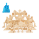 Wooden Blocks Building Block 162pcs Toy Wood Set Kids Motor Skill Round 3yr+