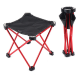 Red Portable Outdoor Folding Stool Camping Fishing Picnic Chair Small Seat