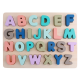 Montessori Wooden Puzzle Children Kid Early Educational Toys Alphabet Number-Capital Letter Alphabet