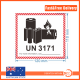 80Pcs Lithium Battery UN3171 Shipping Labels sticker 12*11cm