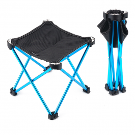 Topbuy Double Portable Outdoor Fishing 2 Seat Blue Folding Picnic Chair